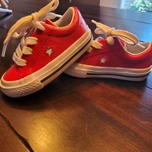 Toddler converse red sneakers
